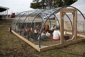 Chicken Tractor Hoop Style Farm Living Chickens
