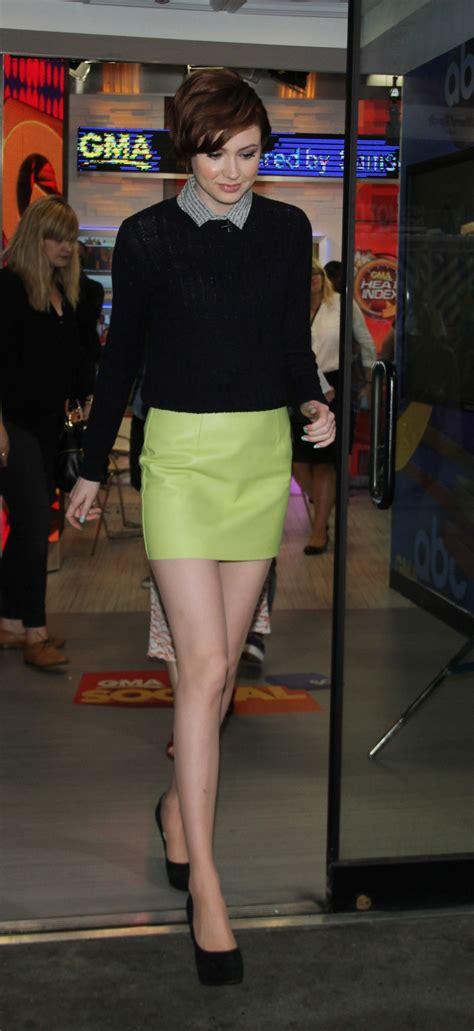 karen gillan  mini skirt  good morning america