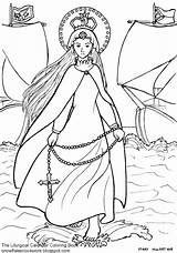 Coloring Lady Rosary Holy Victory Catholic December Liturgical Twenty Offer October Martyrs Done Calendar Christ sketch template