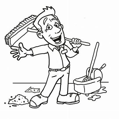 Cleaning Clipart Clean Clip Line Drawings Environment