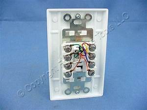 Leviton White Decora 8