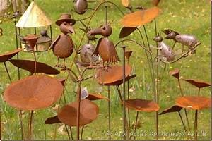 Decoration Jardin Metal : d co fer forge jardin exterieur exemples d 39 am nagements ~ Teatrodelosmanantiales.com Idées de Décoration