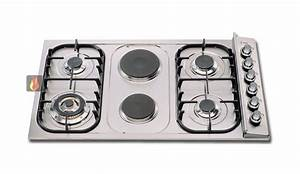 Plaque De Cuisson Gaz Et électrique : plaque de cuisson mixte 90 cm encastrable 4 foyers gaz et ~ Dailycaller-alerts.com Idées de Décoration