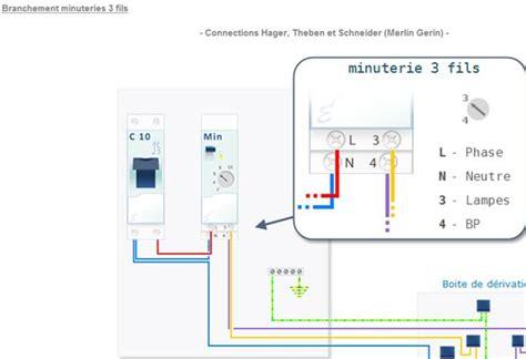 minuterie escalier 3 fils et 3
