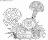 Coloring Cool Pages Designs Printable Adult Geometric Complex Colouring Mandala Trippy Mushrooms Sheets Mermaid Mushroom Teens Adults Books Az Drawings sketch template