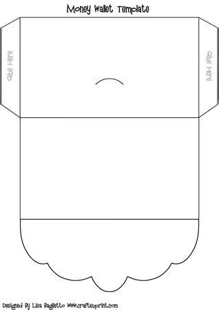 wallet template scalloped flap money wallet template cup137960 614 craftsuprint