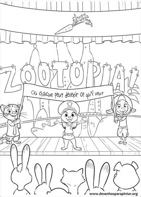 zootopia desenhos  colorir imprimir  pintar desenhos  pintar  colorir