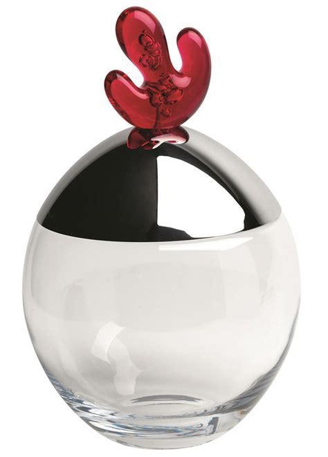 Alessi Big Ovo Biscuit Box by Joanna Lyle Pomegranate
