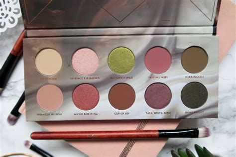 zoeva cafe eyeshadow palette swatches  review