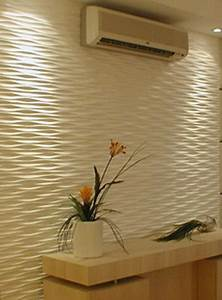 Decorative d wall panels adding dimension to empty walls