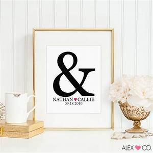 personalized wedding gifts for couple by alexandcoprintables With unique wedding gifts for couples