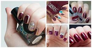 15 burgundy nail designs you can try to copy fashionsy