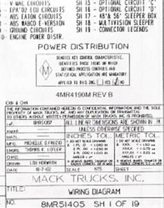 Mack Ch613 Engine Wiring Diagrams : mack wiring diagram chassis series cxn chn 2004 2005 ~ A.2002-acura-tl-radio.info Haus und Dekorationen