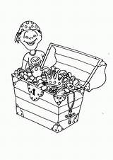 Coloring Treasure Chest Open Clipart Comments Library Clip sketch template