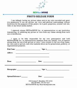 Picture release form free printable documents for Photography waiver and release form template