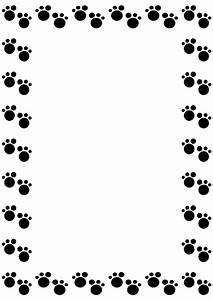 Dog paw border clipart - WikiClipArt