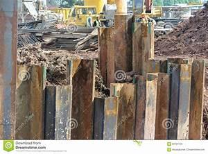 Retaining Wall Steel Sheet Pile Stock Photo - Image: 59704755
