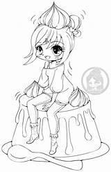 Coloring Yampuff Chibi Lineart Anime Deviantart Kawaii Colouring Caramel Creme Printable Chiharu Chibis Boy Commission Coloriage Dessin Imprimer Strawberry Manga sketch template