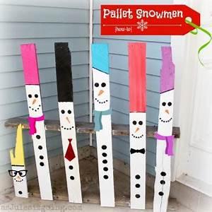 Snowman Pallet Decor