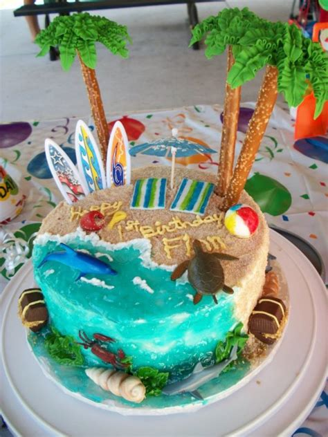 1st Birthday Beach Cake Cakecentralcom