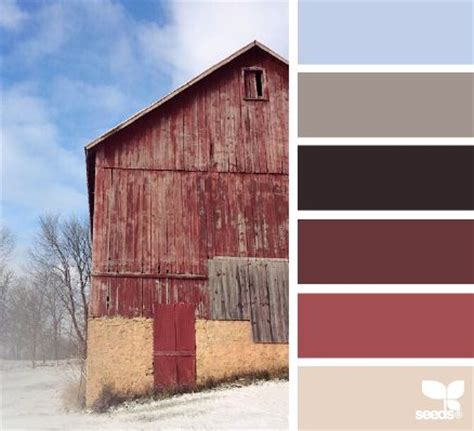 rustic winter paint colors design and red barns