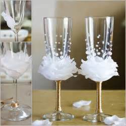 wonderful diy wine glasses decoration with flowers and beads