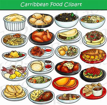 American Clipart Caribbean Central Recipes Clip Foods