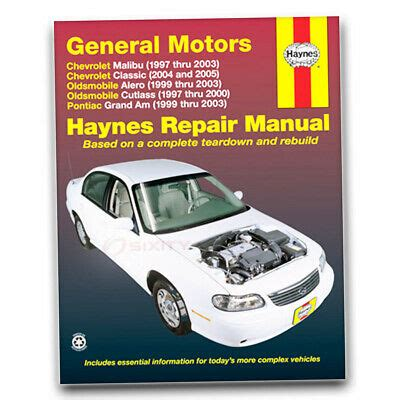 1999 Pontiac Grand Am Repair Manual by Haynes Repair Manual For 1999 2003 Pontiac Grand Am Shop