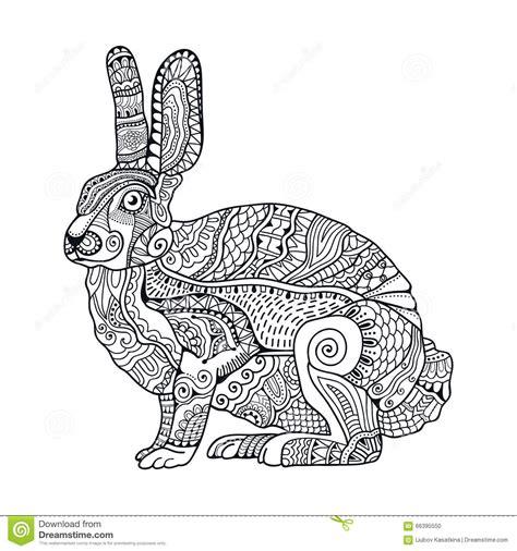 zentangle stilisierte kaninchen hand gezeichnete