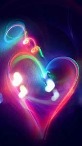 neon hearts wallpaper wallpaper colorful