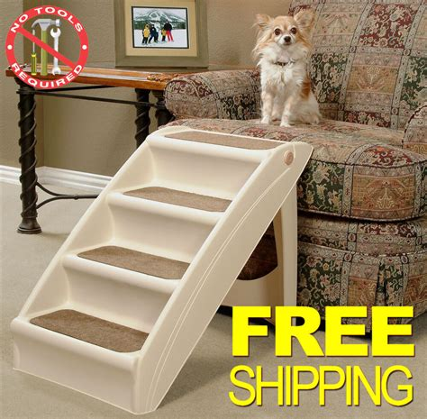 pet stairs dog steps cat ramp doggy step portable folding