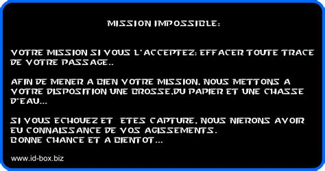message toilettes propres version mission impossible