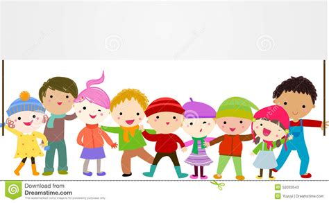 Group Of Kids Holding A Banner Stock Vector  Illustration. Fishing Company Decals. Door Cover Decals. Action Logo. Car Insurance Banners. Watch Dogs Logo. Girl Fashion Banners. Suzuki Stickers. Reunion Logo