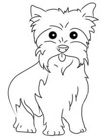 Yorkie Puppies Coloring Pages