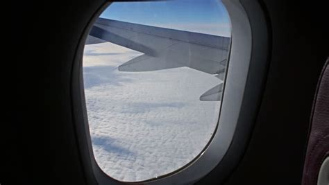 airplane window seat view stock footage video