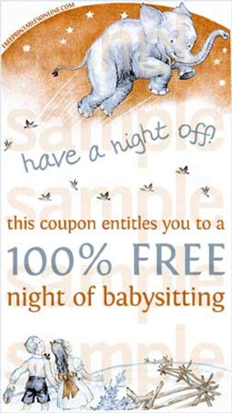 night  babysitting voucher  printables