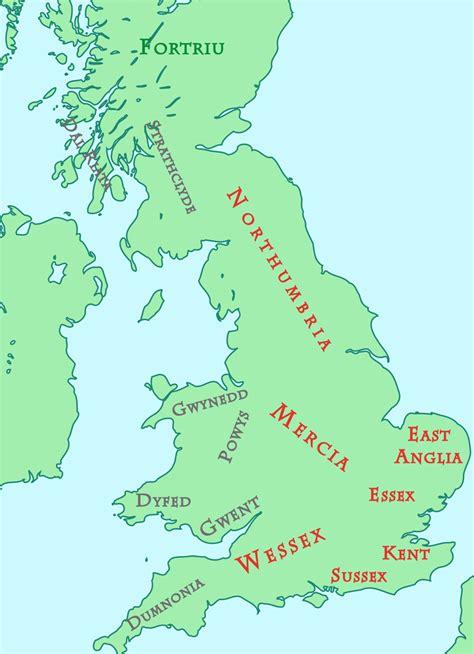 anglo saxon  british kingdoms   interactive image