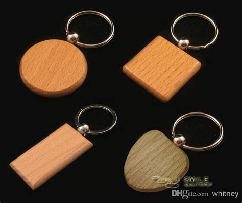 wholesale keychains buy blank wooden key chain personalized wood keychains rectangle squre