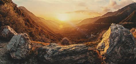 background dusk highway mountain background image