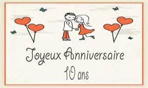 10 ans de mariage carte anniversaire mariage 10 ans coeur papillon