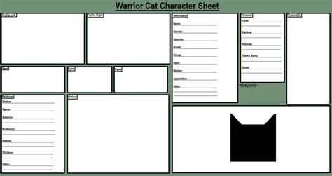 warrior cat character sheet  rainbow love night
