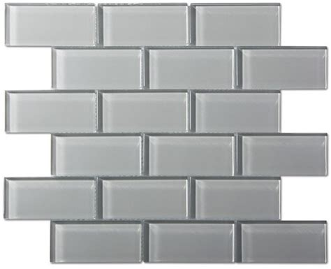 9 95sf free shipping smoke gray glass 2x4 subway tile