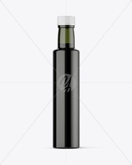 Free customizable oil bottle mockup. Download 375ml Green Glass Olive Oil Bottle Mockup PSD ...