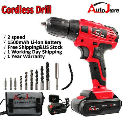 powerful battery drill lithium ion   cordless