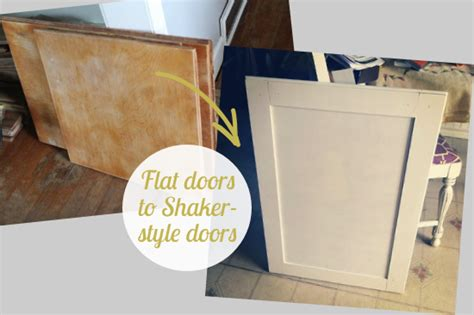 changing cabinet doors to shaker style beautifully contained kitchen update how to convert flat