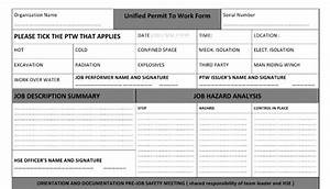 working at height permit to work template gallery With working at height permit to work template