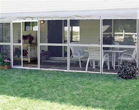 Patio Screen Doors Menards by Patio Mate Screened Enclosure 8 6 Quot X 25 7 Quot With Two