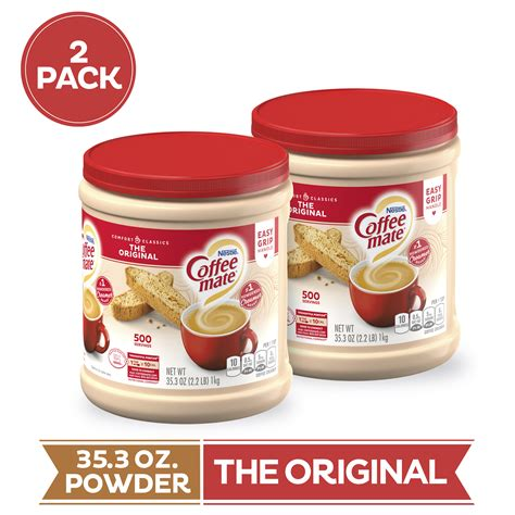 The powder is always white. (Pack of 2) COFFEE MATE The Original Powder Coffee Creamer ...