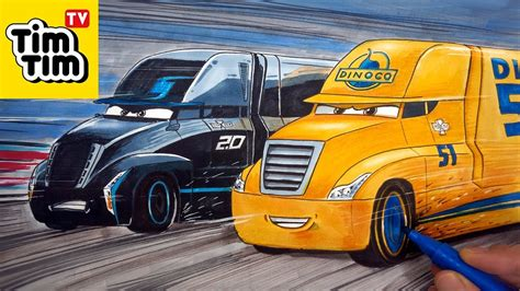 How To Draw Cars 3 2.0 Jackson Storm's Hauler Gale