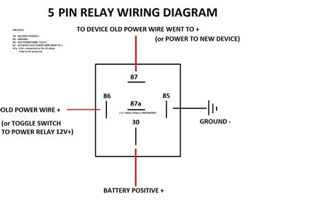 12v Horn Relay Wiring Diagram by Simple 5 Pin Relay Diagram Dsmtuners 12 V Diagram